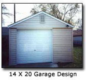 Image of 14 x 20 Garage Design