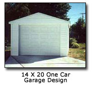 Photo of 14 x 20 One Car Garage