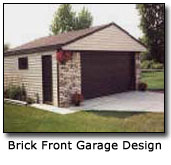 Image of Brick Front Garage Design