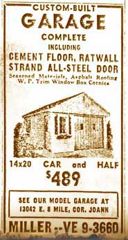 Miller Garages Ad from 1948