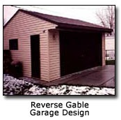 Photo of Reverse Gable Garage Design